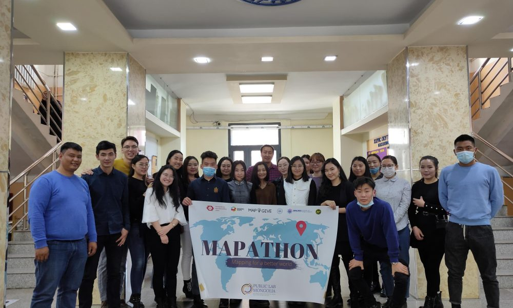 Mapathon event with National University of Mongolia students